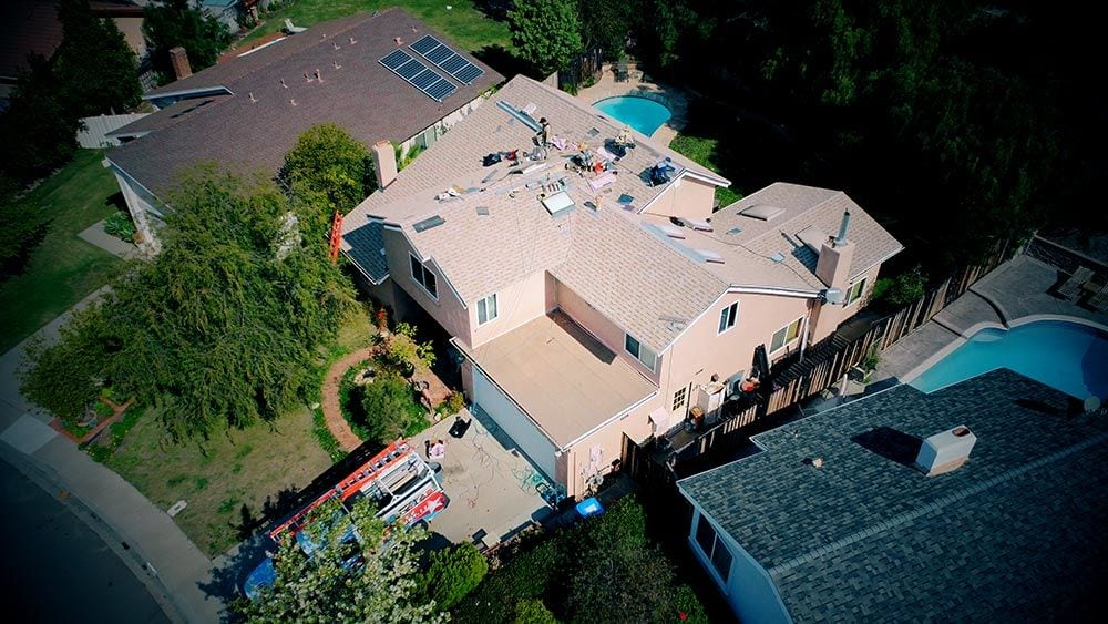 Overhead View of Semper Solaris Roofing Project