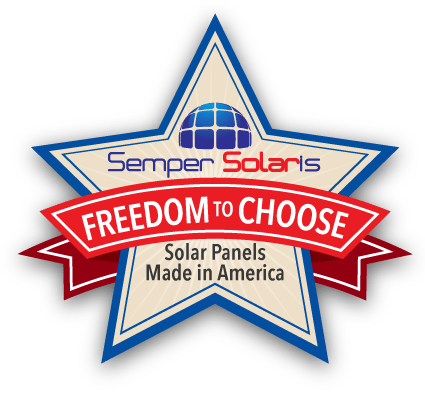 Freedom to choose American Made Solar Panels