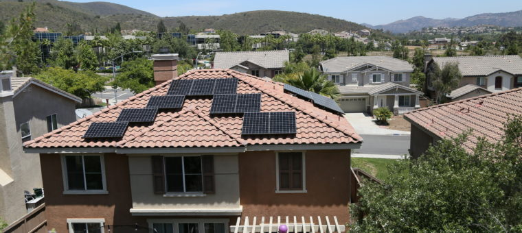 Solar Panels Installed on top of a house in Elk Grove.